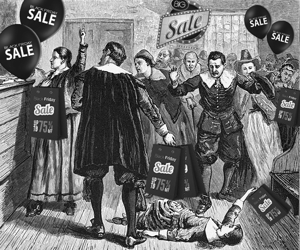 The Pilgrims At The First Black Friday
