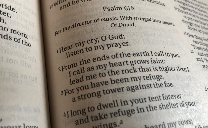 Anger, Panic, And The Psalms